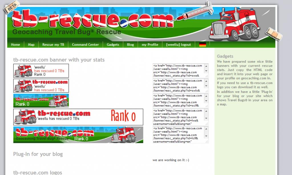 Kuva 4 - Palvelun bannerin voi liittää vaikka omalle profiili-sivulleen. Bannerista näkee kuinka montaa matkaajaa on tullut autettua.
