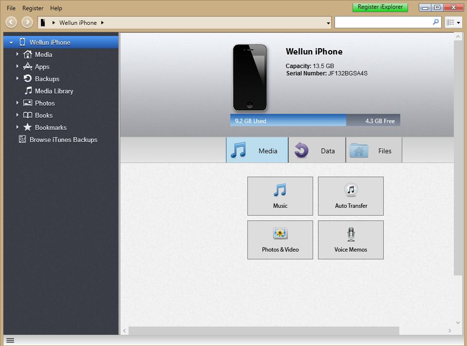 Kuva 2 - iExplorerin perusnäkymästä vasemmasta valikosta suunnataan Apps->CacheBird->Documents, johon on hyvä luoda oma alihakemisto karttoja varten.