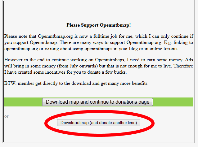 Kuva 2 - Valitse alempi vaihtoehto, jos et halua lahjoittaa rahaa sivuston ylläpitoon.