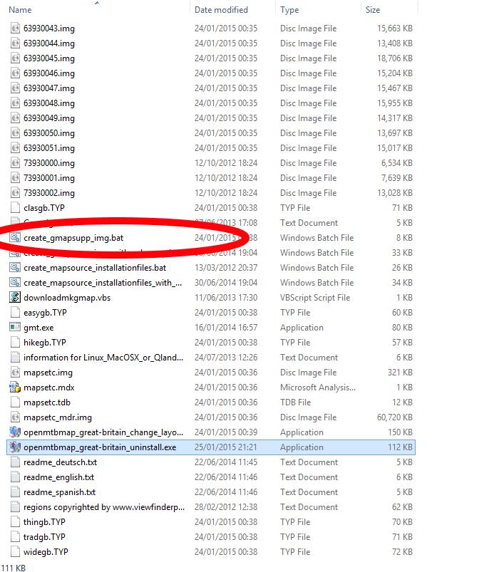 Kuva 7 - Etsi tiedostojenhallinnasta hakemisto, johon asensit kartat ja sieltä