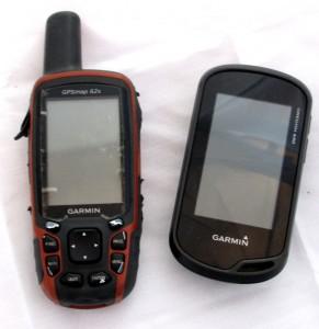 Kuva 1 - Monet kätköilijät käyttävät käsi-GPS:ää, koska se kestää paremmin erilaisia sääolosuhteita ja iskuja kuin tavallinen älypuhelin.