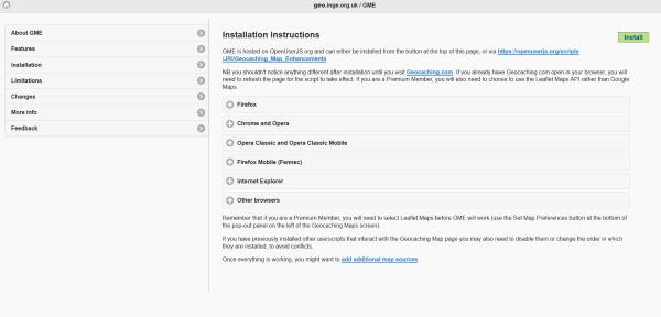 Kuva 4 - Myös GME:n asennus onnistuu suoraan web-sivulta.
