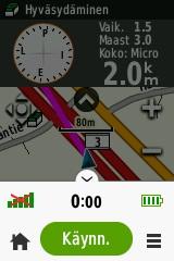Kuva 9 - Karttanäkymän alalaidan valikko.