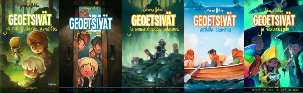 Kuva 1 - Geoetsivät on lasten ja nuorten seikkailukirjasarja.