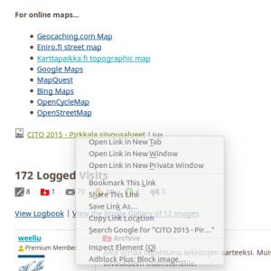 Kuva 2 - Helpoiten lisätyn kuvan osoitteen saa hiiren oikealla napilla ja valitsemalla kopioi linkin osoite (copy link's location)