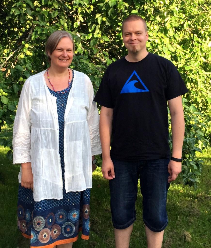 Kuva 1 – Johannan Hulkko ja team Weellun W aurinkoisissa tunnelmissa Nokialla.
