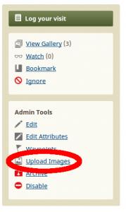 Kuva 1 - Kätkökuvauksen galleriaan voi lisätä kuvan upload image linkkiä seuraamalla.