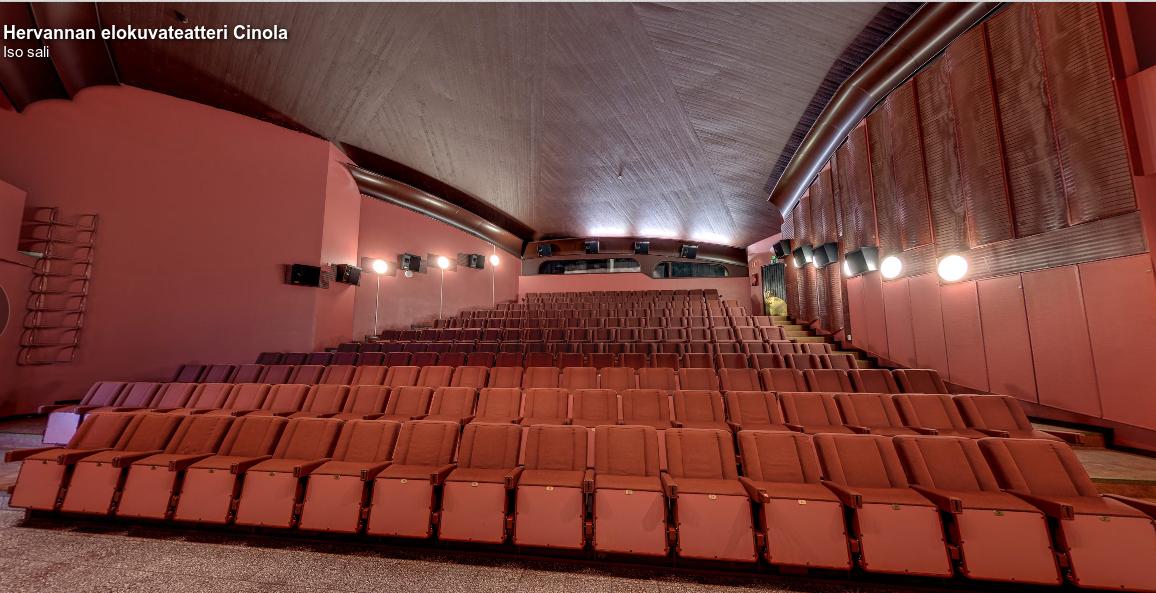 Kuva 1 - Cinolan iso sali tarjoaa mahtavat puitteet geofilmifestivaaleille