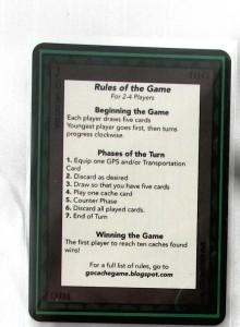 Kuva 2 - Sääntökortin avulla ei peliä opi. Erilliset säännöt tarvitaan.