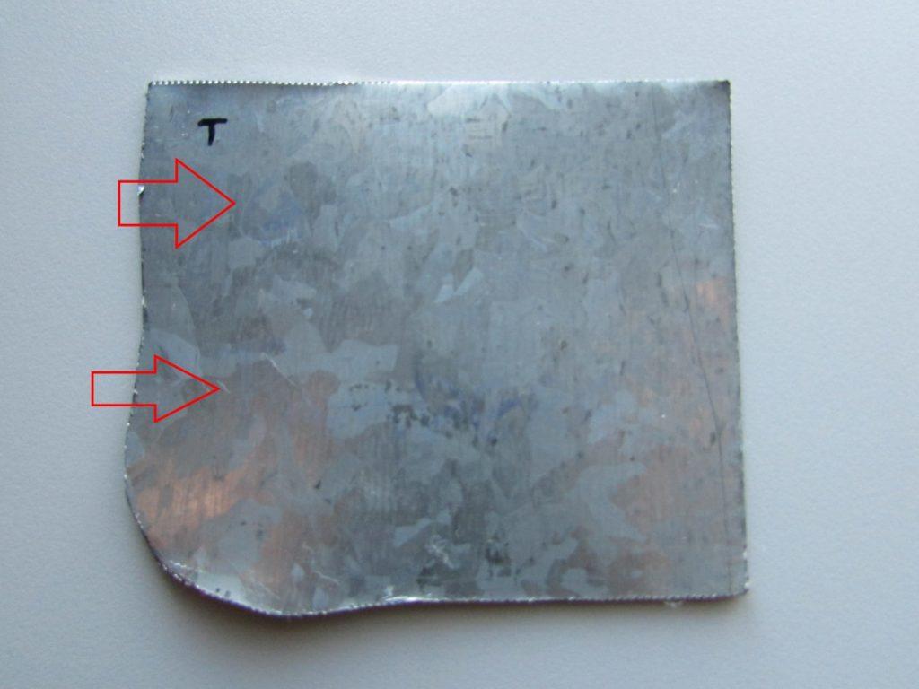 Kuva 17 - UV-tussi ei metallipiunnalla juuri näy.